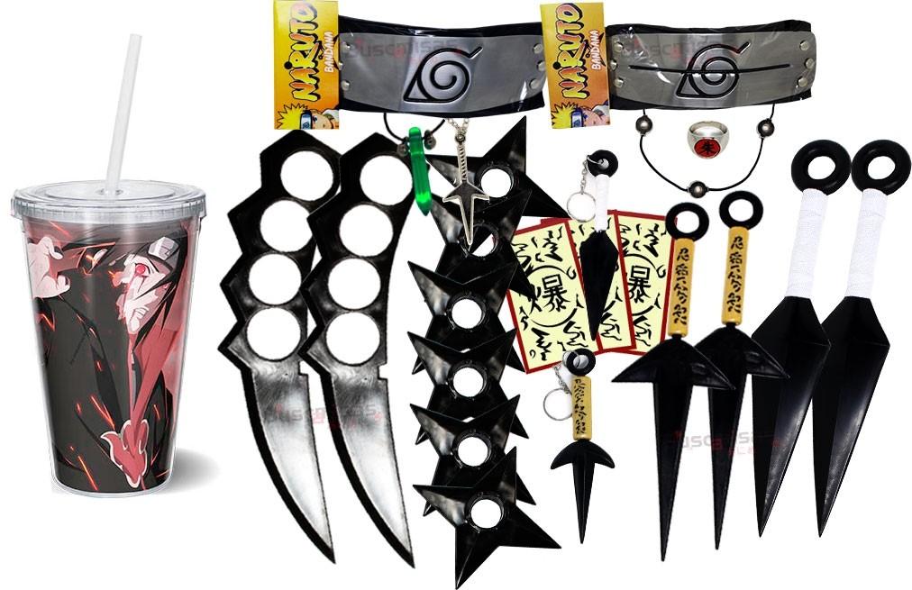 Kit Ninja Kunai Naruto Anel Colar Naruto Bandana Itachi K57