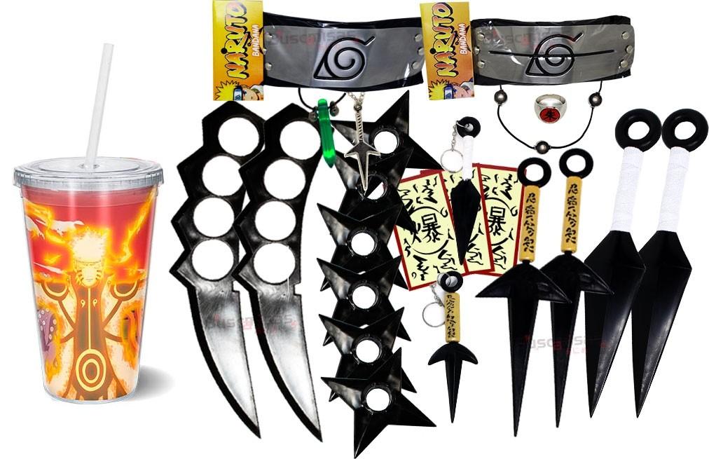 Kit Ninja Kunai Naruto Anel Colar Naruto Bandana Itachi K58