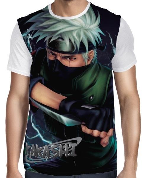 Camisa FULL Kakashi Mod. 02- Naruto