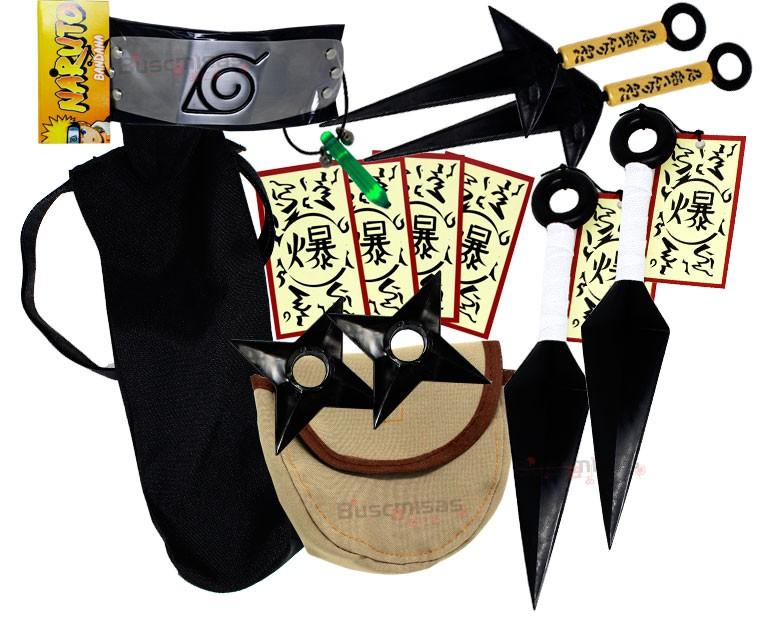 Kit Ninja Naruto Kunai Colar Verde Shuriken Bandana Minato K-H
