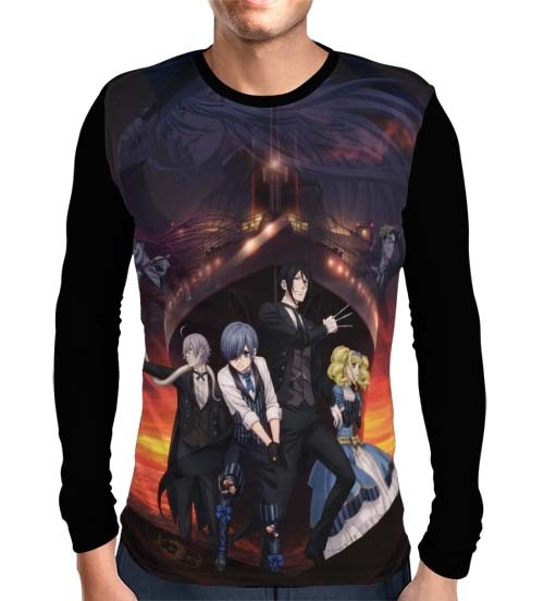 Camisa Manga Longa Book of the Atlantic - Kuroshitsuji - Black Butler