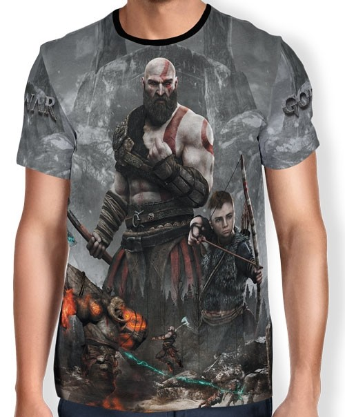 Camisa Full Print Kratos - God of War