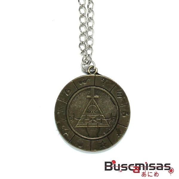 Colar Gravity Falls - Medalha Zodiaco Bill Cipher