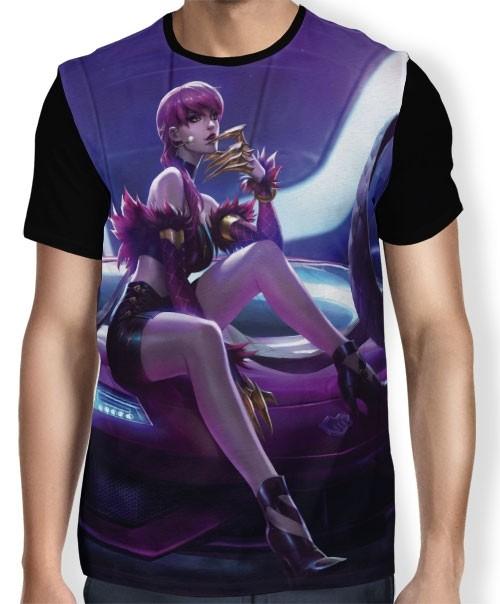 Camisa FULL Evelynn  K/DA - League of Legends