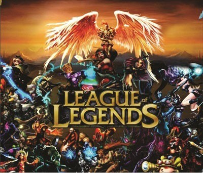 Mouse Pad - LOL Fundo Laranja - League of Legends