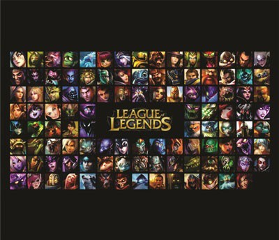 Mouse Pad - LOL Quadrados - League of Legends
