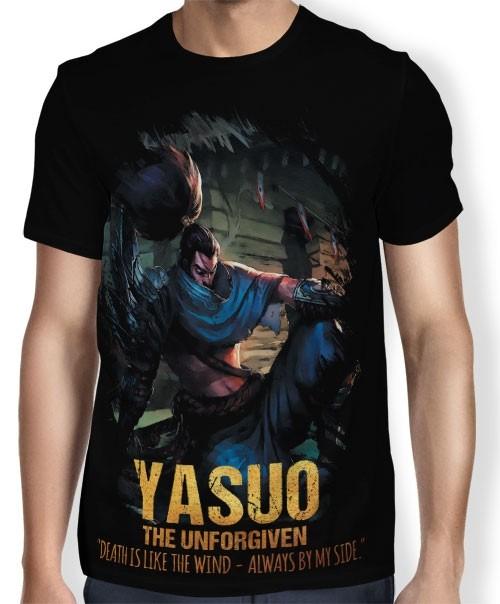 Camisa FULL Unforgiven Yasuo - League of Legends