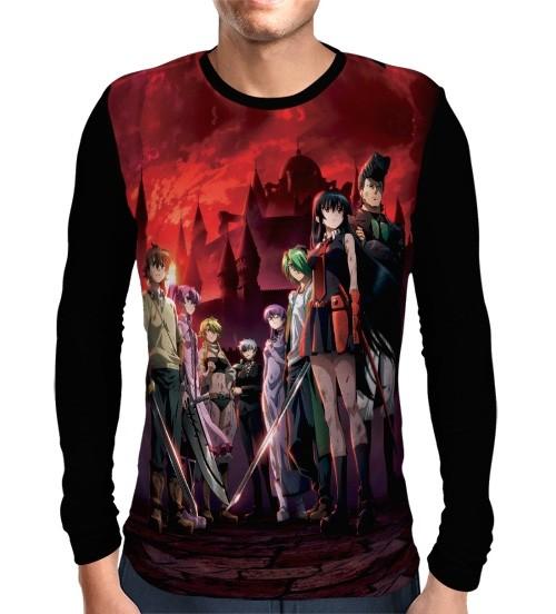 Camisa Manga Longa Night Raid - Akame Ga Kill