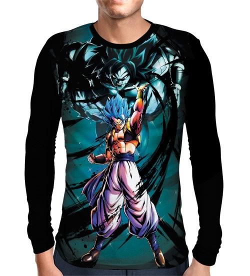 Camisa Manga Longa Blue Gogeta - Dragon Ball Super Broly