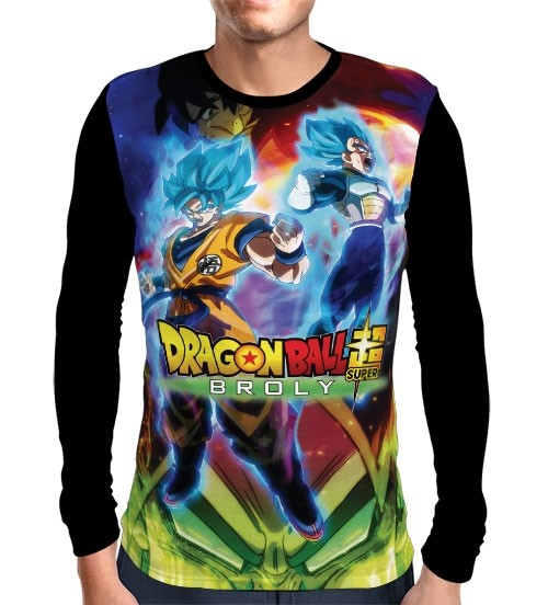 Camisa Manga Longa The Movie Broly - Dragon Ball Super