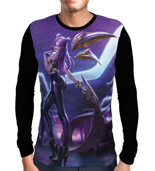 Camisa Manga Longa Kai'Sa K/DA - League Of Legends