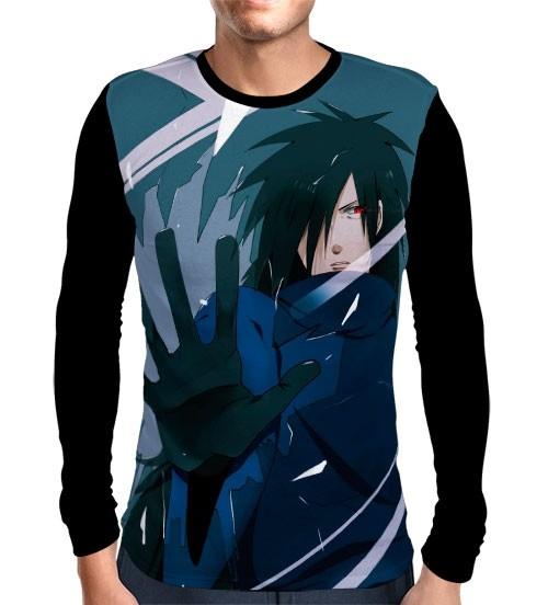 Camisa Manga Longa Face Madara - Naruto