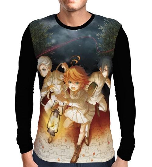 Camisa Manga Longa Yakusoku no Neverland - The Promised Neverland