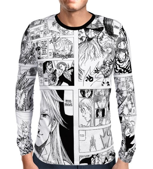 Camisa Manga Longa Mangá Especial Capitulo 300 - Nanatsu No Taizai