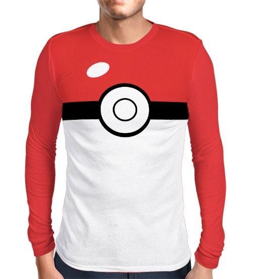 Camisa Manga Longa Print Pokebola - Pokémon