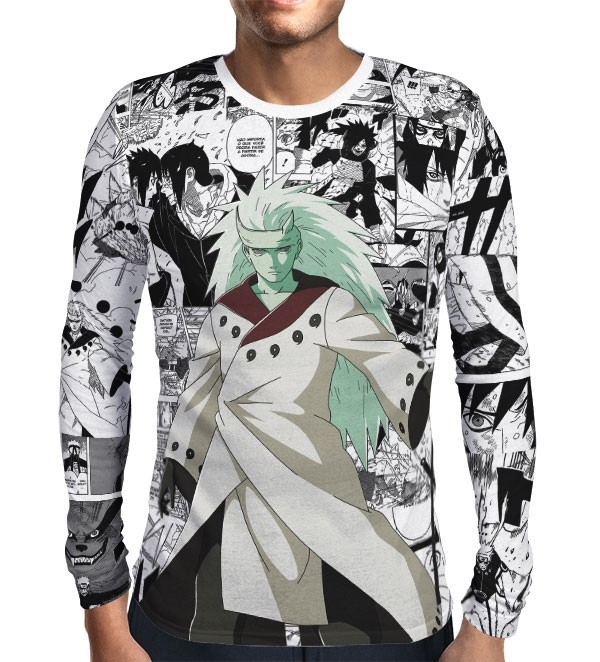 Camisa Manga Longa Print Manga Madara Mod 01 - Naruto