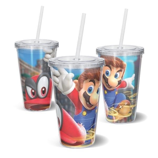 Copo Acrilico Super Mario Odyssey