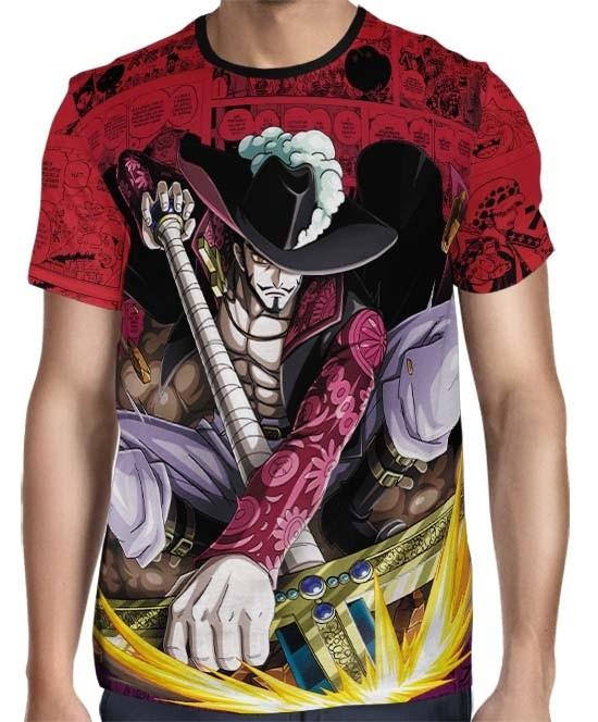 Camisa Red Mangá Dracule Mihawk Mod 01 - One Piece - Full Print