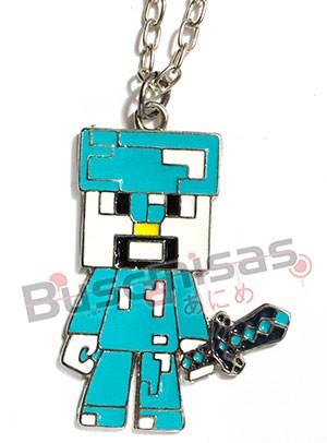 MN-12 - Colar Steve Creeper Minecraft