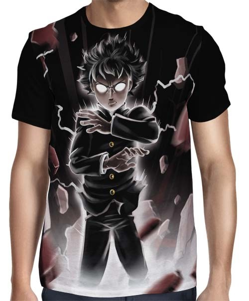 Camisa FULL Darkest Powers - Mob Psycho 100