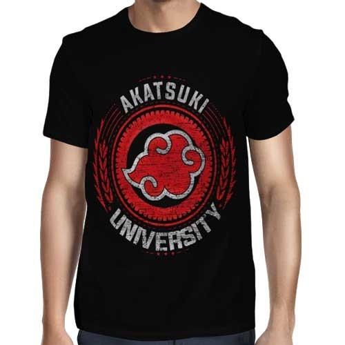 Camisa FULL Akatsuki University - Só Frente - Naruto