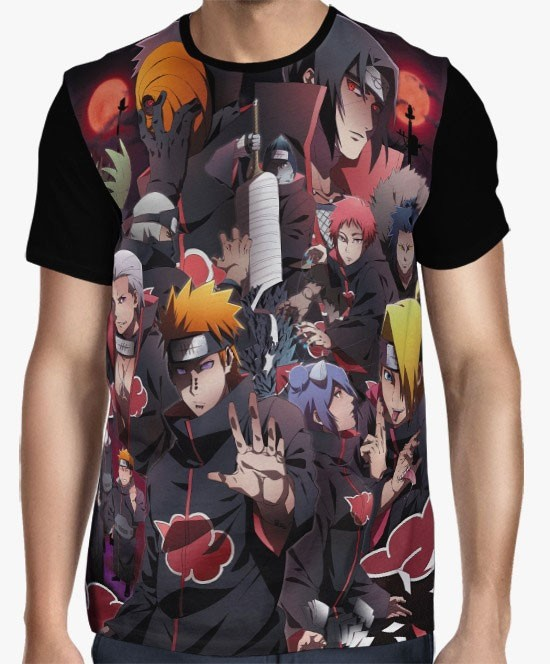 Camisa FULL Naruto - Clã Akatsuki