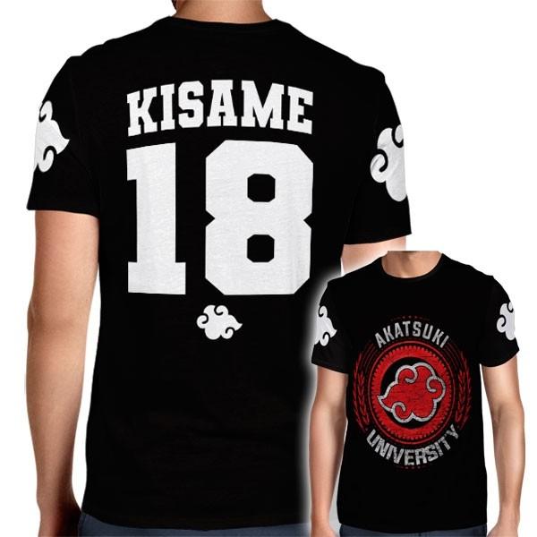 Camisa Full PRINT Akatsuki University - Kisame - Naruto