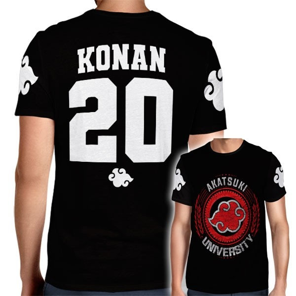 Camisa Full PRINT Akatsuki University - Konan - Naruto