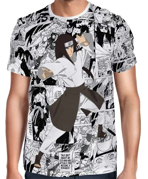 Camisa FULL Print Mangá Neji Hyuga Modelo 2 - Naruto