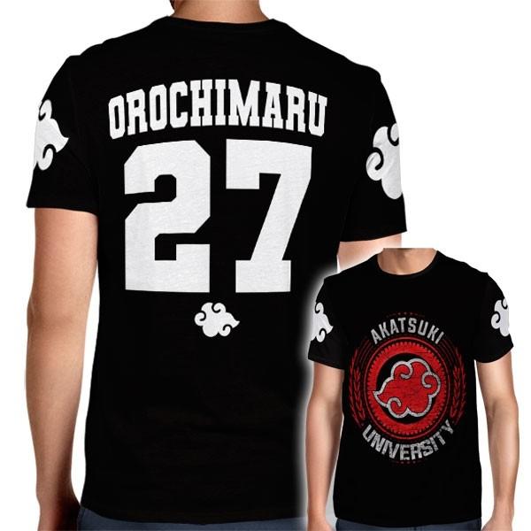 Camisa Full PRINT Akatsuki University - Orochimaru - Naruto