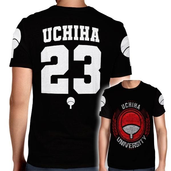 Camisa Full PRINT Uchiha University - Uchiha Sasuke - Naruto