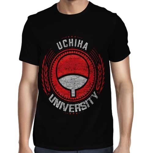 Camisa FULL Uchiha University - Só Frente - Naruto