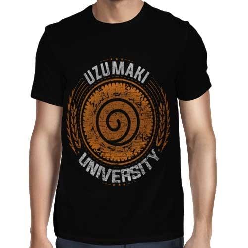 Camisa FULL Uzumaki University - Só Frente - Naruto