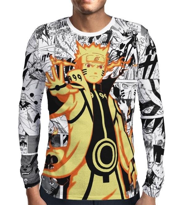 Camisa Manga Longa Print Manga Rikudou Mod 1 - Naruto