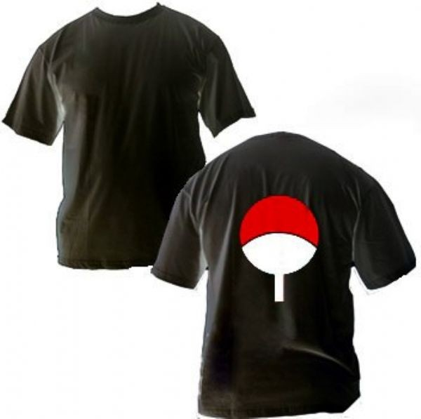 Camisa Naruto - Clã Uchiha - Preto