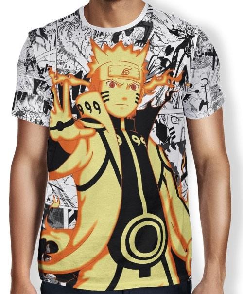 Camisa FULL Print Manga Naruto Rikudou Mod1 - Naruto