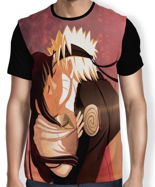 Camisa FULL Hinata e Naruto - Naruto