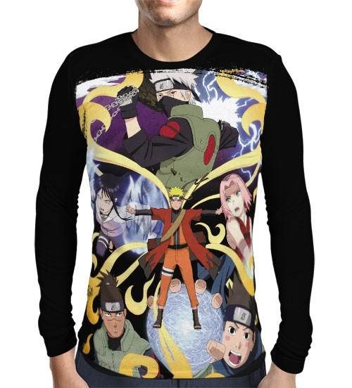 Camisa Manga Longa Shippudden - Naruto