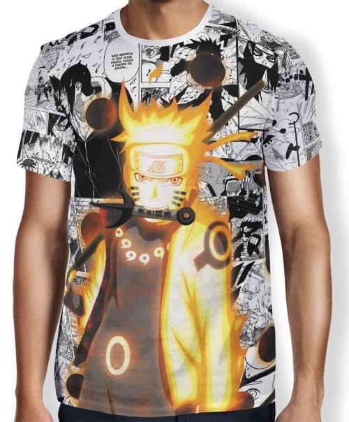 Camisa FULL Print Manga Naruto Rikudou Mod2 - Naruto
