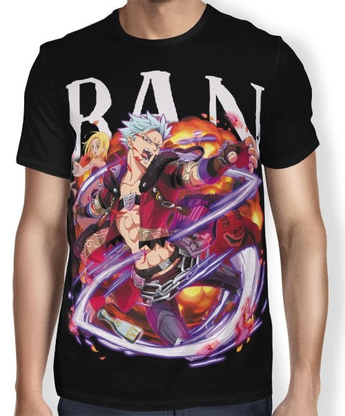 Camisa Full Bandit Ban - Nanatsu no Taizai
