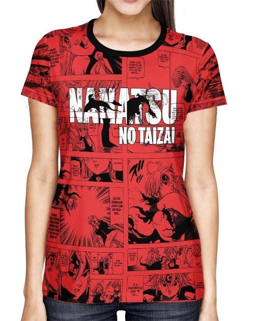 Camisa Full Print Red Mangá Meliodas - Nanatsu No Taizai