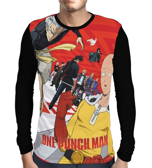 Camisa Manga Longa Heroes 2nd Season  - One Punch Man