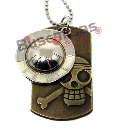 OP-67 - Colar DogTag Caveira Luffy - One Piece