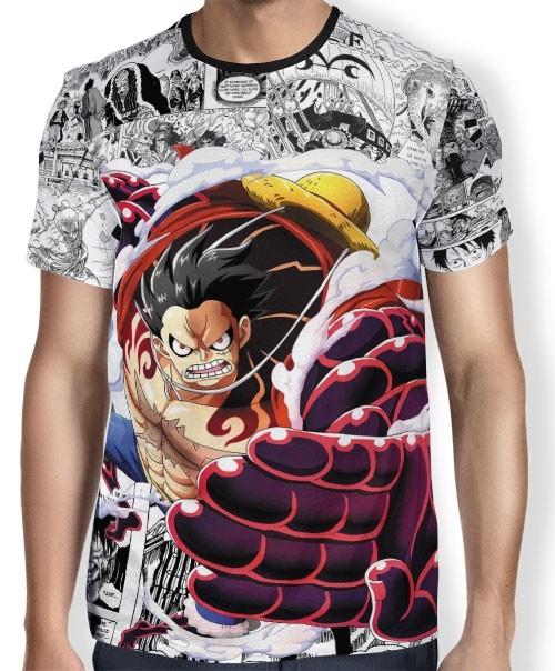 Camisa Full Print Mangá Gear 4 Luffy - One Piece