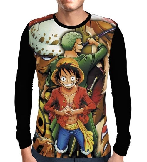 Camisa Manga Longa Zoro - Law - Luffy - One Piece