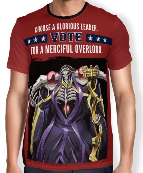 Camisa Full Print Vote Leader - Overlord