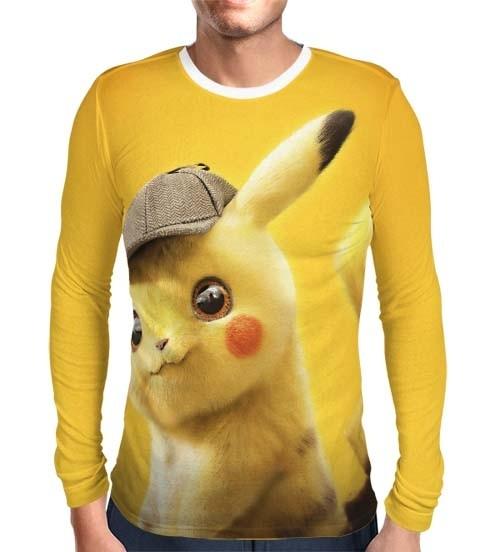 Camisa Manga Longa Print Detetive Pikachu Modelo 1- Pokémon