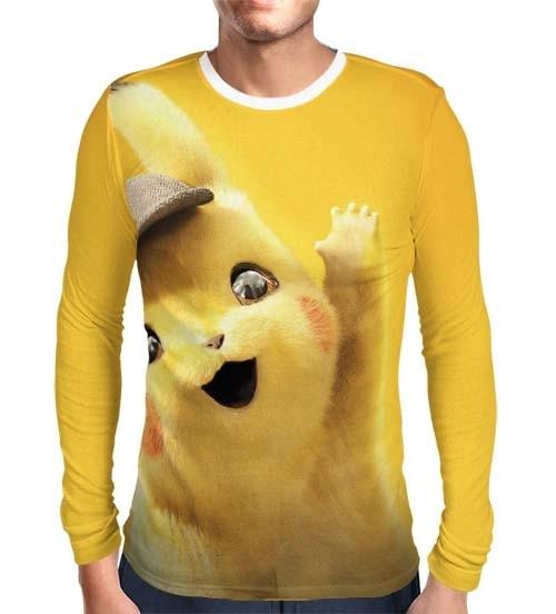 Camisa Manga Longa Print Detetive Pikachu Modelo 2 - Pokémon