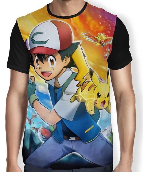 Camisa Full Ash Pikachu - Pokemon