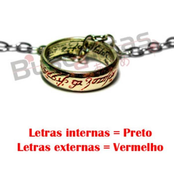 """SA-02 - Anel de Sauron """"One Ring"""" - Versão Letras Vermelhas"""
